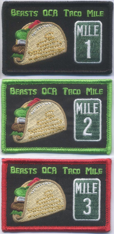 Taco Mile Moral Patches
