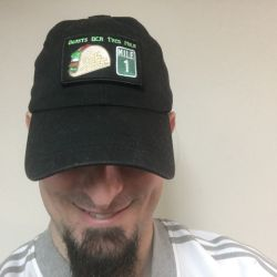 Taco Mile Patch on a hat!