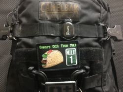 Taco Mile Patch on a ruck!