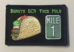 Beasts OCR Taco Mile Moral Patch
